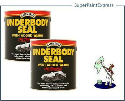 Hammerite Waxoyl Underbody Seal 2.5L Litre  Underseal - Pack Of 2 Cans