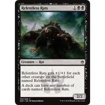 1x RELENTLESS RATS - Rare - Fifth Dawn/M11/M25 - MTG - NM - Magic the Gathering