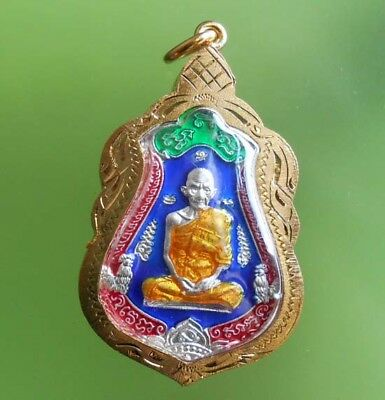 Perfect! Old Amulet Lp Ruey Wealth And Success From Siam !!!