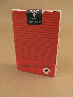 Playing cards Delta air lines airlines UNOPENED red back ARRCO New Old Stock NOS