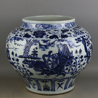 Rare Chinese Blue and White Porcelain big Jar /pot