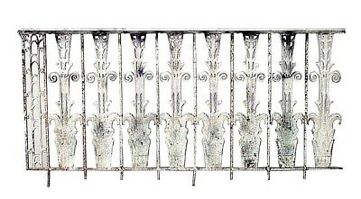 9 French Art Deco Iron Railings with Scroll Design