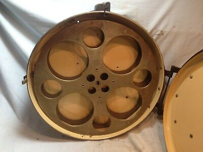 "Vintage 17"" GOLDBERG 3000' 35mm Aluminum Reel  Art Deco XXX Movie Theater"