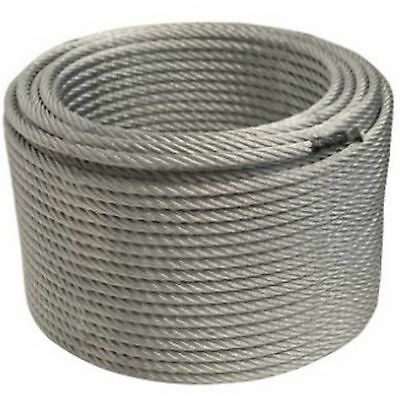 """ALEKO WR3/8G7X19250 3/8"""" 7 x 19 Galvanized Aircraft Steel Cable Wire Rope 250'"""