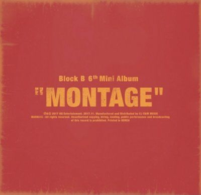 "BLOCK B 6th Mini Album ""MONTAGE"" K-POP CD+72p Photobook+Photocard+12p Lyric Book"