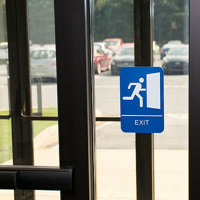 Ada Exit Sign  W/braille Free Shipping Us Only