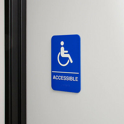 Ada Handicap Accessible W/braille Free Shipping Us Only