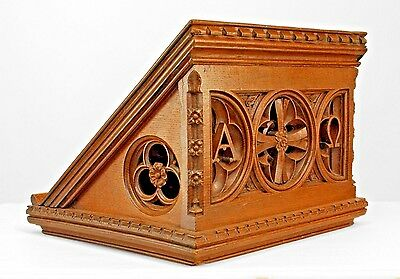 English Victorian Gothic Revival Style (19th Cent.) Oak Slant Top Book Stand