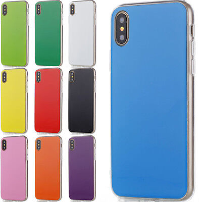 Candy Color Rubber Ultra Thin Soft TPU Phone Case Cover For iPhone