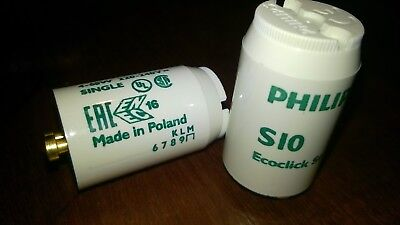 2x Starter Philips S10 Ecoclick Starter 4-65w 220-240V Single EAC Made in Poland