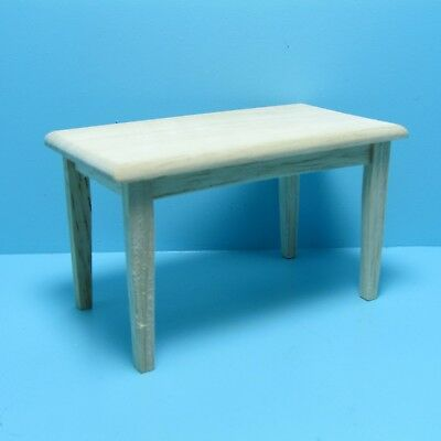 Dollhouse Miniature Unfinished Wood Rectangle Kitchen Table ~ CLA08658