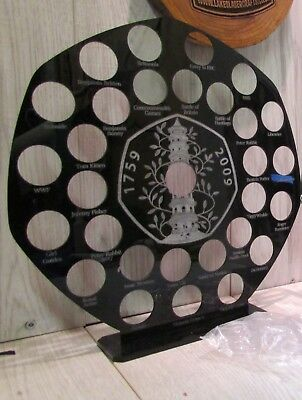 50p pence coin hunt album stand Kew gardens 50p display holder all designs