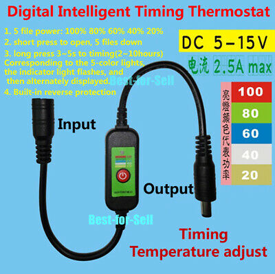 DC 5V-15V Temperature Control Thermostat Switch DIY Heated Vest Gloves Pet Belt