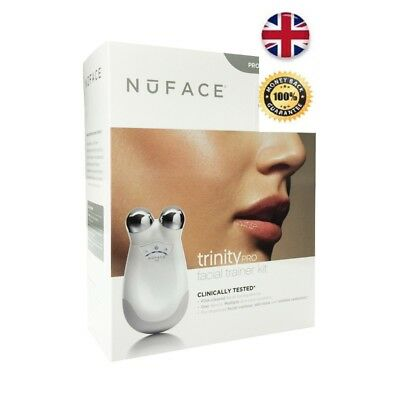 NEW 2017 - Nuface Trinity Pro Facial Toning Device FaceLift HomeSpa - White
