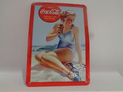"Blechschild "" Coca Cola "" Delicious and Refreshing - ca 145 x 100 mm"