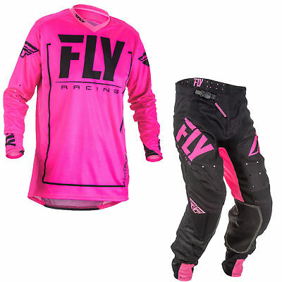 New Fly Racing Adult Mens Pink Lite Hydrogen Gear Moto Jersey + Pants Combo