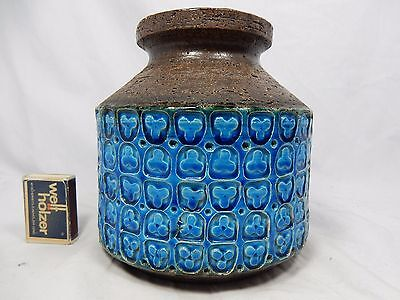 "Well shaped  Bitossi  design"" Rimimi blue "" pottery vase Keramik Vase 121 / 16"