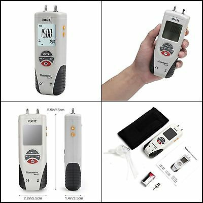 Manometer Digital Air Pressure Meter Differential Gas Tester Tool Lcd Gauge Hvac