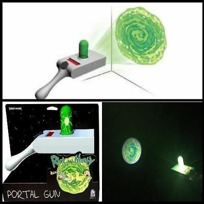 Adult Swim Official Rick and Morty Portal Gun Toy Cosplay Portal Image Projector