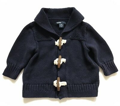 Baby Gap Boy's 3-6 months Blue toggle Cardigan Knit Sweater.