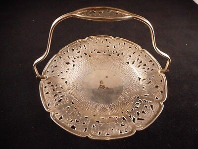 Antique Chinese Silver Swing Handled Basket