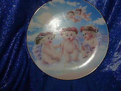 """Angels DREAMSICLES """"The Flying Lesson""""6 1/4"""" Plate The Hamilton Collection 1994"""
