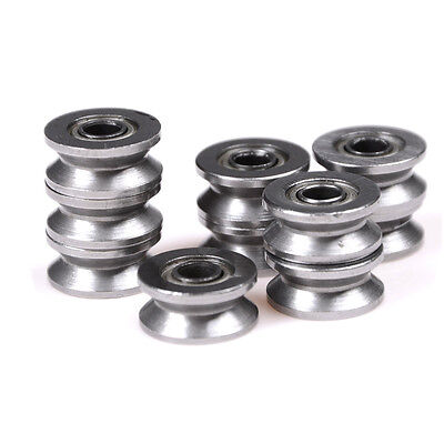 10x 624VV V Groove Deep Groove Ball Bearing Traces Walking Guides Rail UK NEW