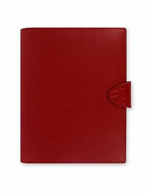 Filofax Calipso Leather A5 Red Organizer Agenda Diary 2016 + 2017 Calendar wi...