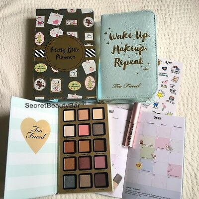 Genuine TOO FACED Pretty Little Planner Makeup Set BNIB Palette Mascara Limited