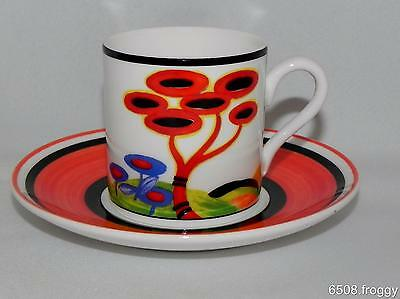 W/WOOD-CLARICE CLIFF-Café Chic Cup/Saucer- RED TREE - Mint Condition