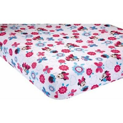 Disney  Minnie Mouse Happy Day  Baby Fitted Crib Sheet Only