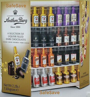Anthon Berg Dark Chocolate Liqueurs 2.2 Lbs 64 Pieces New Sealed Box