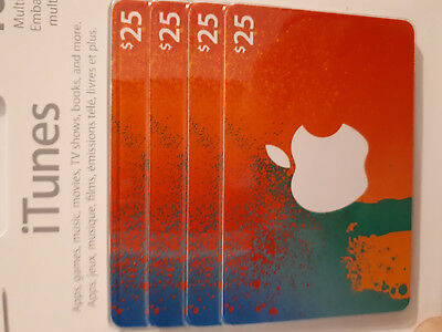 iTunes gift card CAD$25