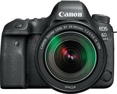 Canon - EOS 6D Mark II DSLR Camera with EF 24-105mm f/3.5-5.6 IS STM Lens -...