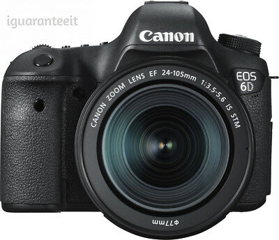 Canon - EOS 6D DSLR Camera with EF 24-105mm IS STM Lens Black