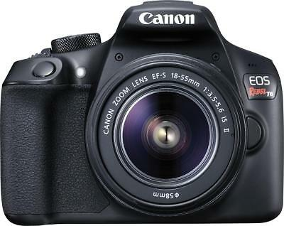 Canon - EOS Rebel T6 DSLR Camera with EF-S 18-55mm f/3.5-5.6 IS II Lens Black