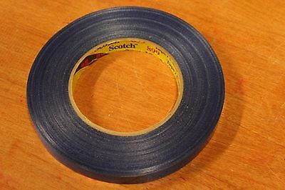 (2) 3M Scotch Strapping Tape Rolls 1/2' wide 60 yards long Blue