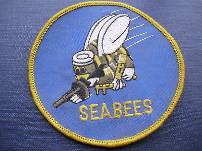SEABEES Military US NAVY Naval Mobile Construction Battalion Embroidered Patch