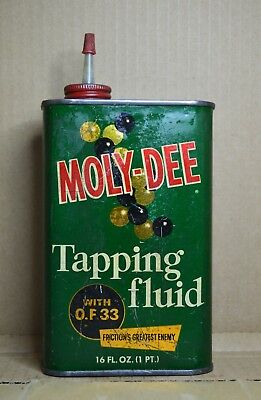 Vintage Moly-Dee Tapping Fluid Can Pint Size-Arthur C. Withrow Co.