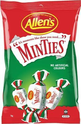Allens Minties Confectionary, lollies 150g BULK BUY - 12 Packs