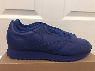 AR2350 REEBOK CLASSIC LEATHER RIPPLE MONO ROYAL BLUE MENS SNEAKER Sz 8-11.5
