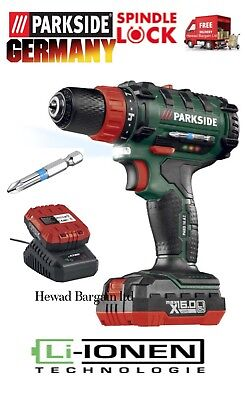 2 Speed Cordless Drill 20v Lithium-ion Battery With Speedmaster Motor