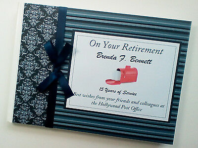 Personalised Postman Retirement/wedding/gift Guest Book - Any Colour