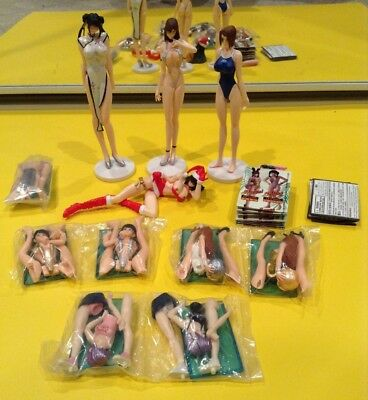 Large Lot of Dead or Alive Volleyball Gashapon Figures