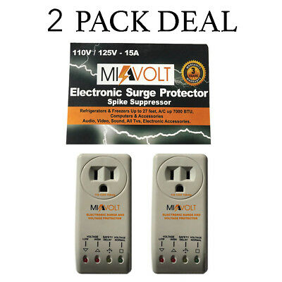 Refrigerator 1800 Watts Voltage Brownout Appliance Surge Protector NEW 2-Pack