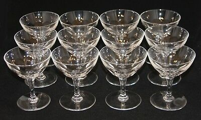 12 Val St. Lambert Montana TCPL Clear Crystal 4-1/2 Inch Champagne Tall Sherbets