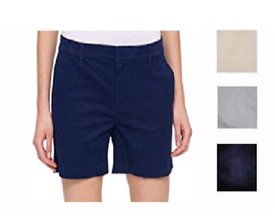 Tommy Hilfiger Womens Woven Flat Front Eyelet Casual Shorts BHFO 3708