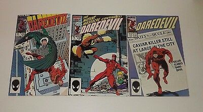 Marvel DareDevil comic lot of 3!! Issues 225 , 238 , and 242