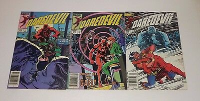 Marvel DareDevil comic lot of 3!! Issues 204 , 205 , and 206