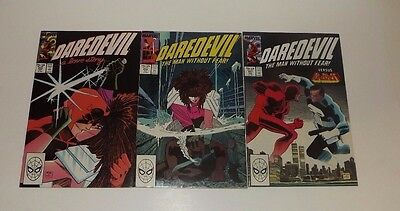 Marvel DareDevil comic lot of 3!! Issues 255 , 256 , and 257